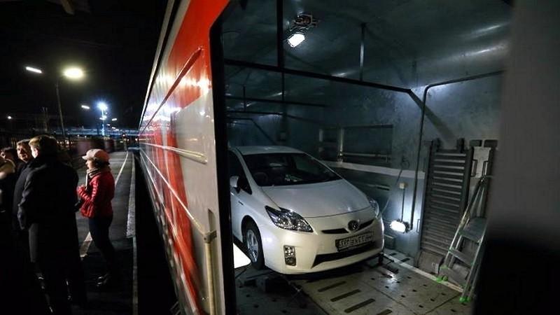 Железнодорожная перевозка машины
