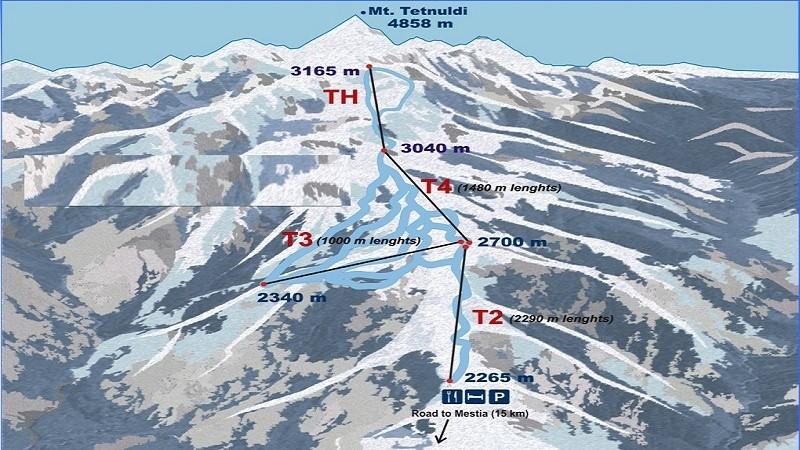 Трассы горнолыжный курорт Тетнульди