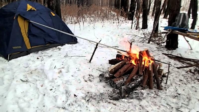 Обогрев палатки в походе