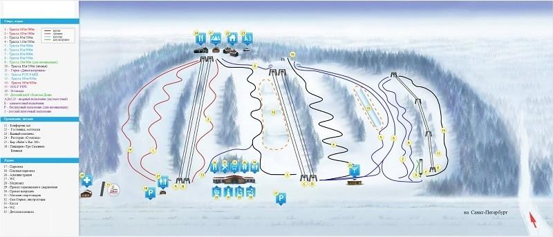 Схема трасс базы Коробицыно