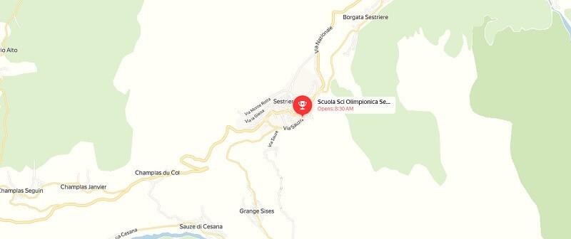 Карта проезда к Сестриере