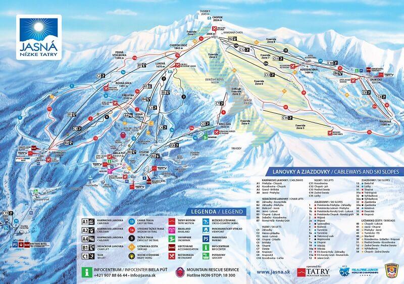 Карта спусков Ясна
