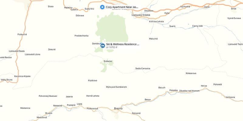 Карта проезда к jasna