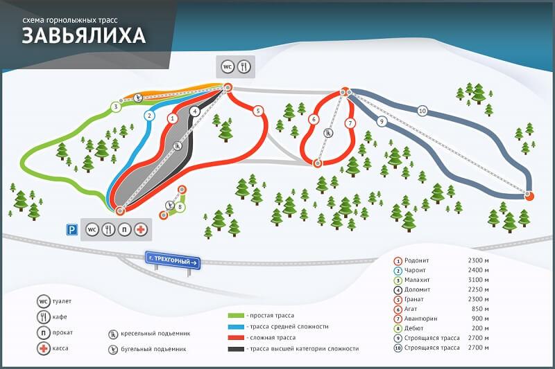 Схема трасс Завьялиха