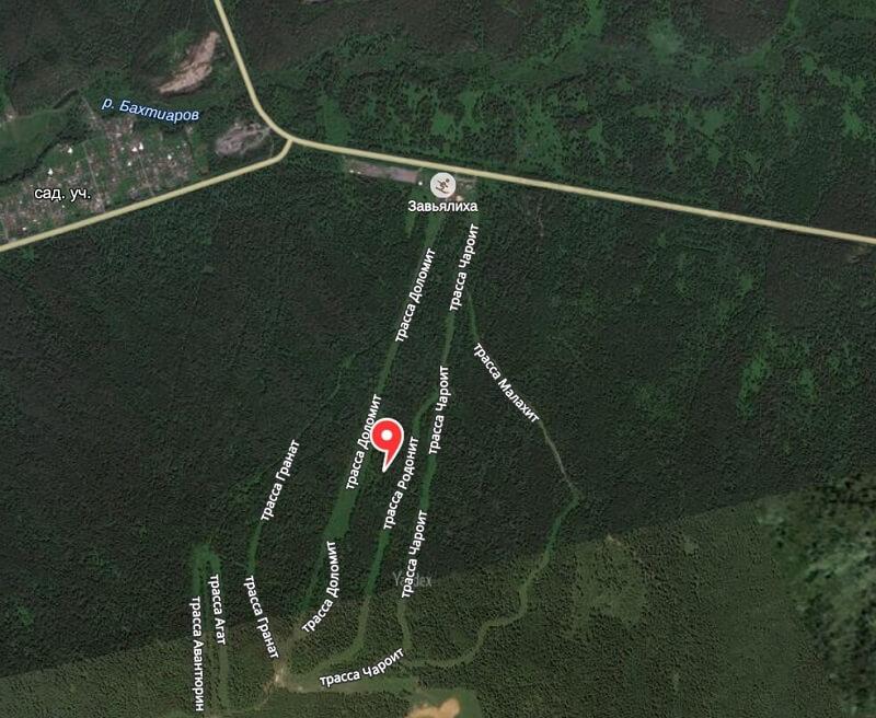 Карта проезда к Трехгорному