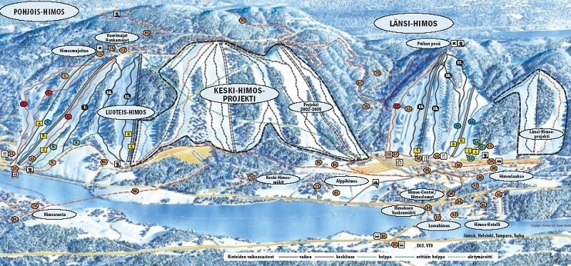 Схема спусков курорта Химос