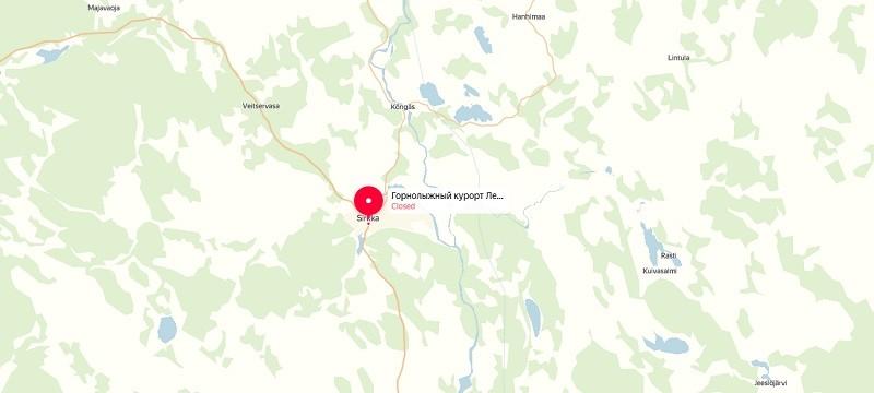Карта проезда к Леви