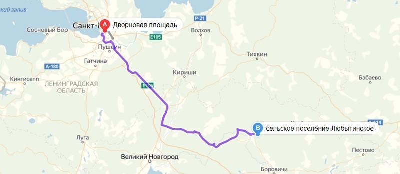 Карта проезда к Любогорью