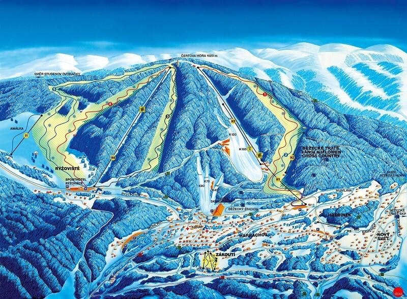 Карта спусков Гаррахов