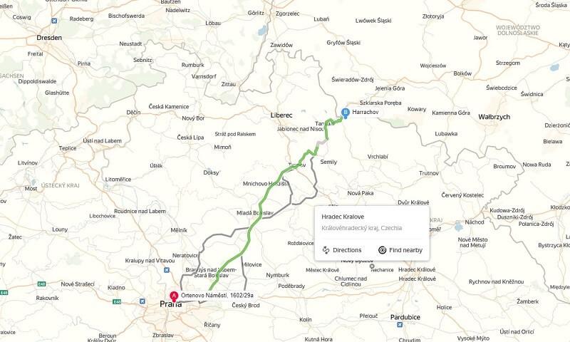 Карта проезда к Гаррахов