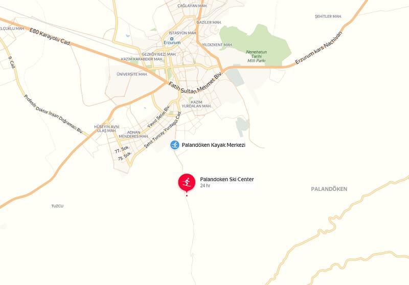 Карта проезда к Паландокен