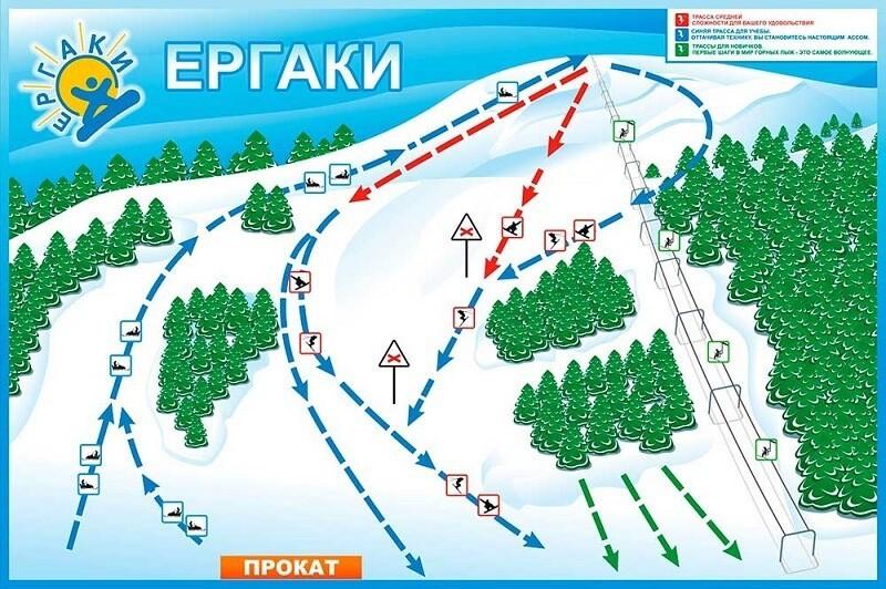 Карта спусков Ергаки