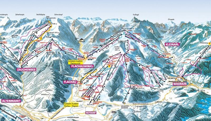 Карта спусков Флахау