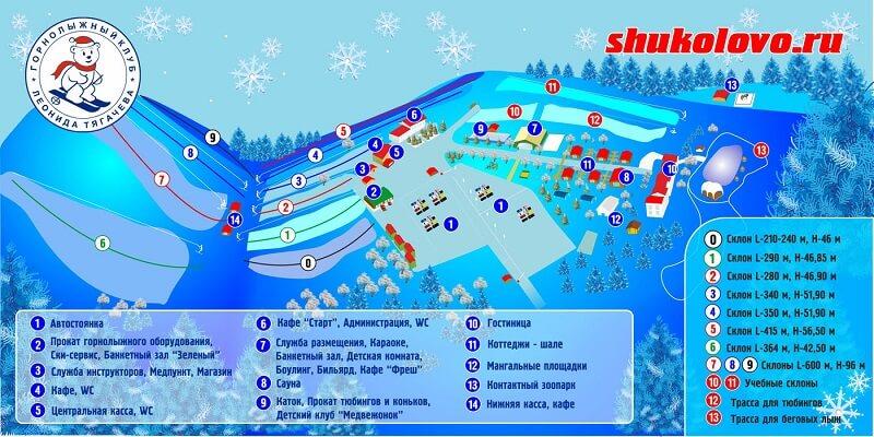 Схема трасс Шуколово