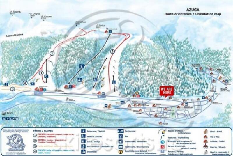 Схема трасс Азуга