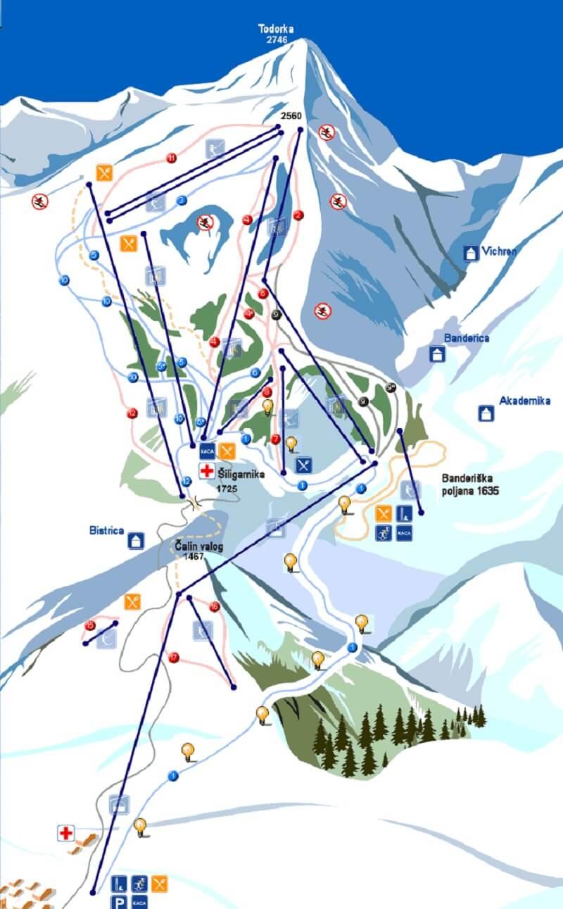 Схема трасс Буштень