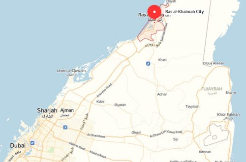 Рас эль-Хайма на карте ОАЭ