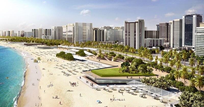 Общественные пляжи Корниш и new Corniche