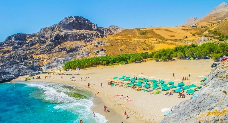 Пляжи южного Крита