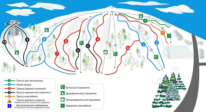 Схема трасс Сорочаны